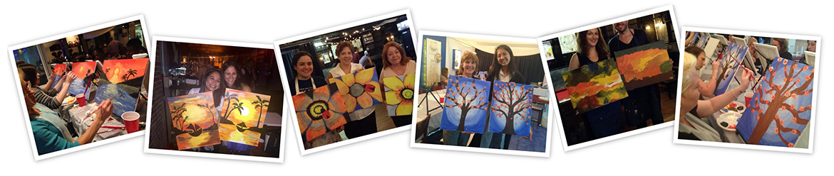 Painting circle host your home painting party with us for Private paint party